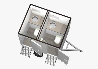 Utánfutós konténer WC (kicsi)